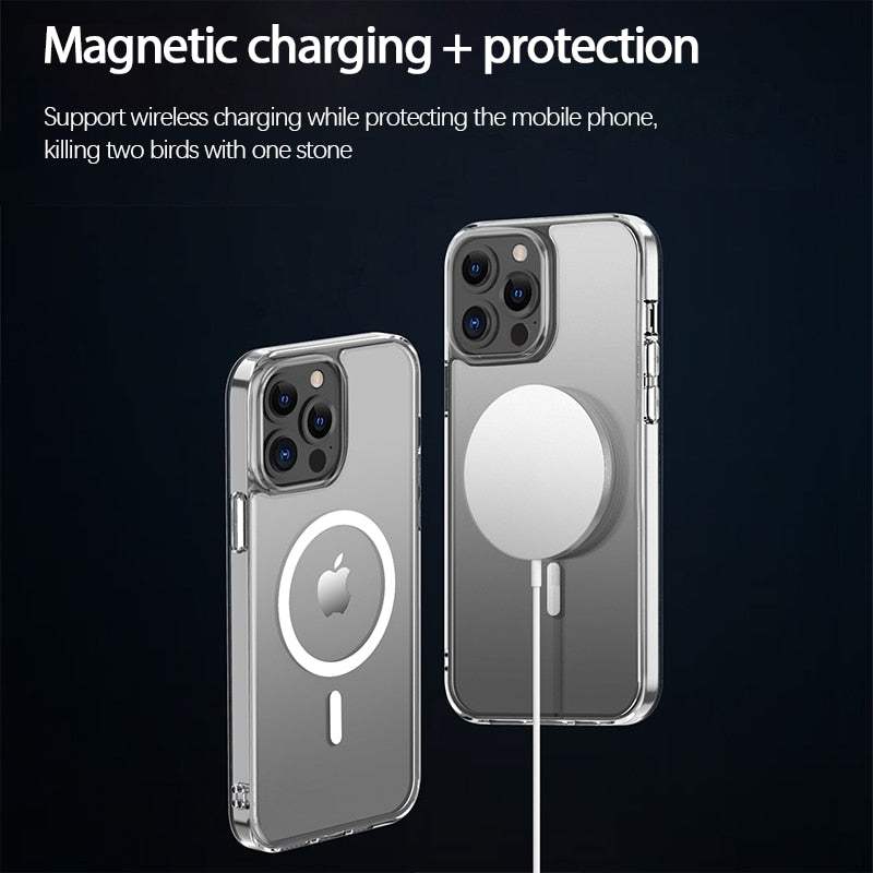 Clear Magnetic Case for iPhone 13 mini
