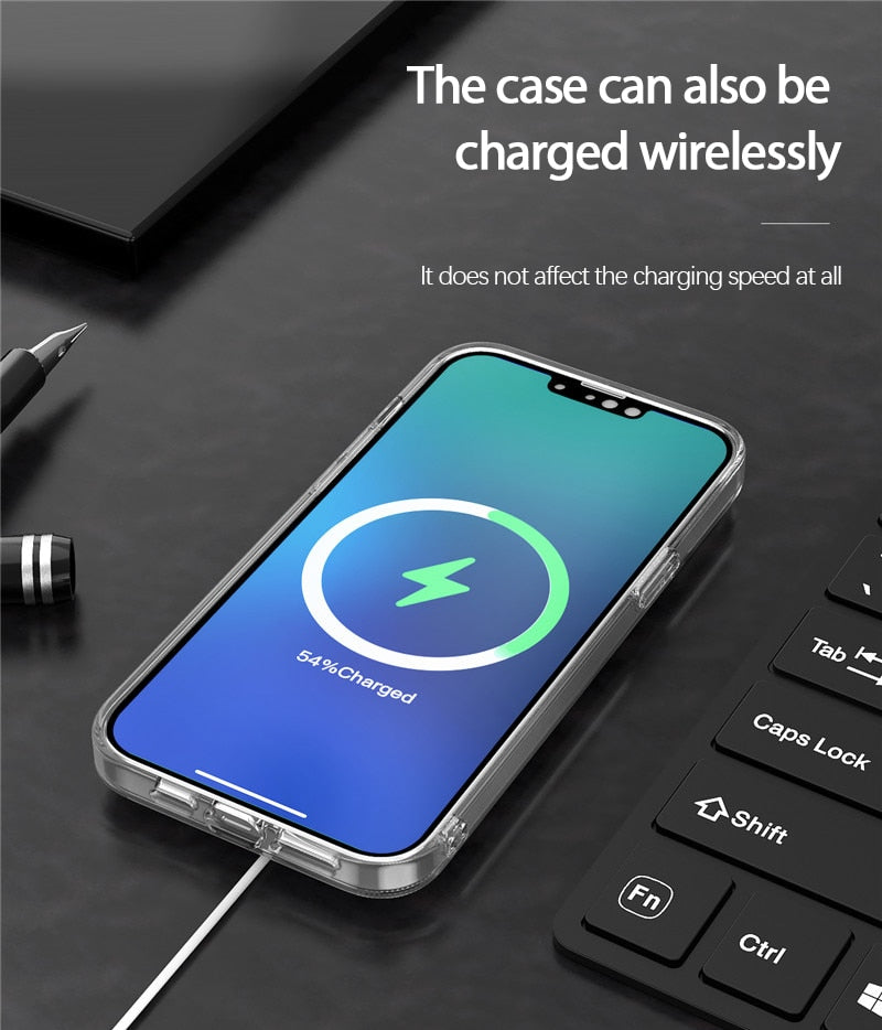 Clear Magnetic Case for iPhone 13 Pro Max