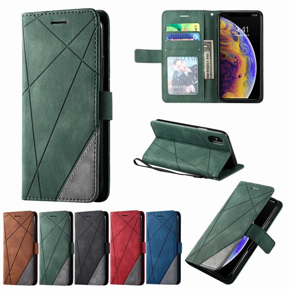 Business Leather Wallet Case for iPhone 13