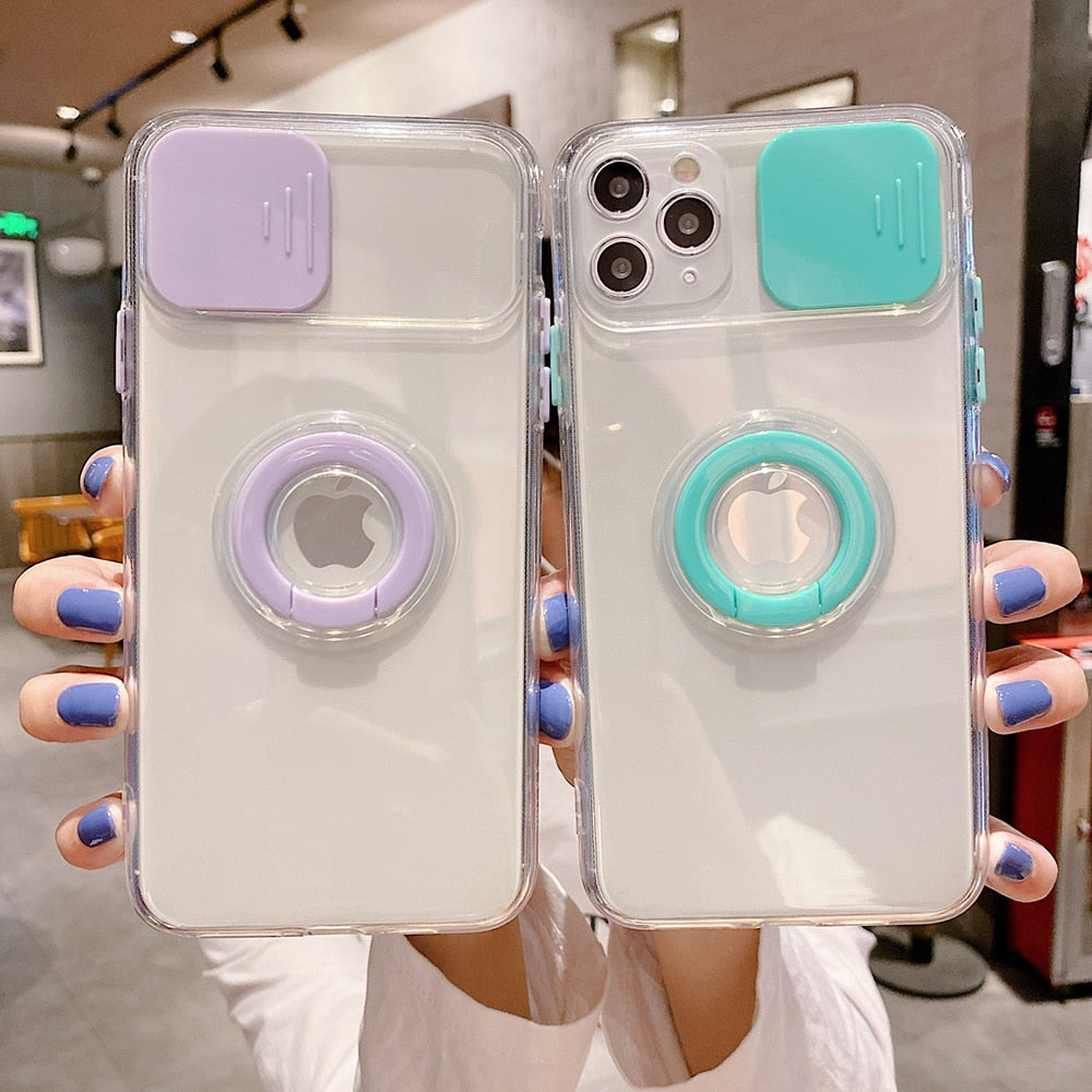 Transparent Camera Protection Case for iPhone 13