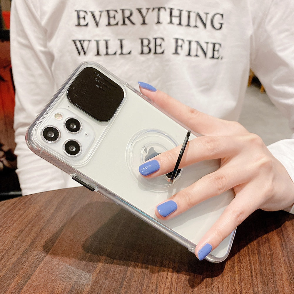 Transparent Camera Protection Case for iPhone 13 mini
