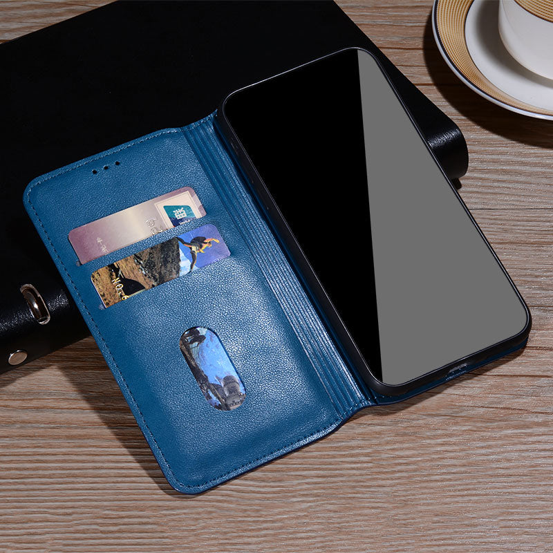 Classy Flip Leather Wallet Case for iPhone 13 mini