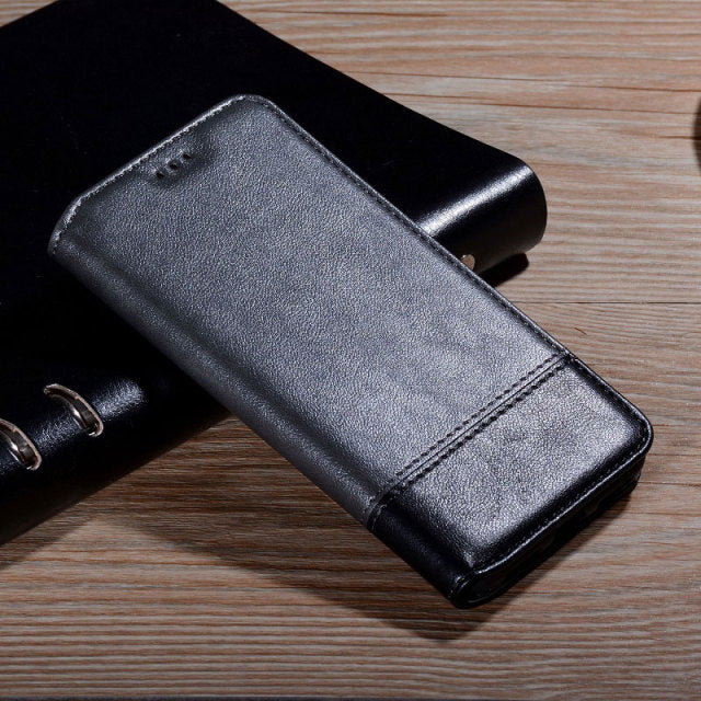 Classy Flip Leather Wallet Case for iPhone 13 Pro Max