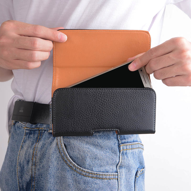 Leather Phone Pouch Case for iPhone 13