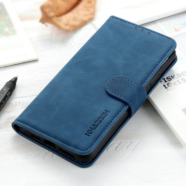 Retro Leather Case for iPhone 13