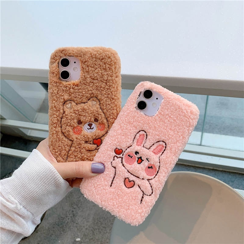 Cute Furry Animal Case for iPhone 13