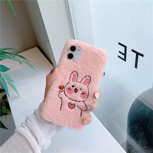 Cute Furry Animal Case for iPhone 13 Pro