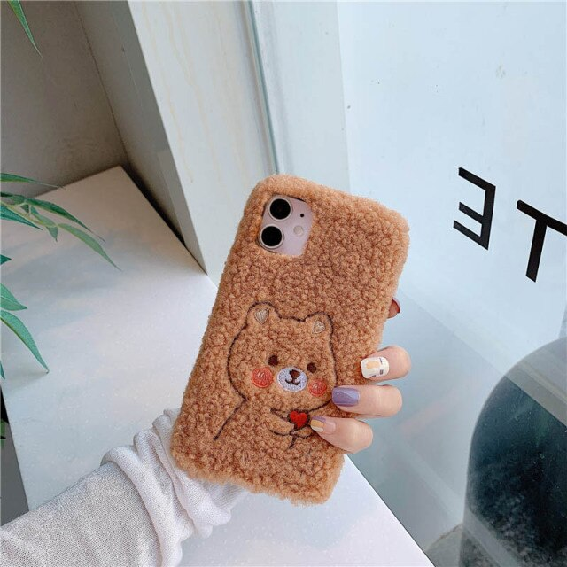 Cute Furry Animal Case for iPhone 13 Pro Max