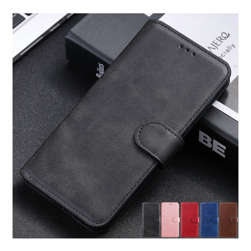 Simple Leather Flip Wallet Case for iPhone 13