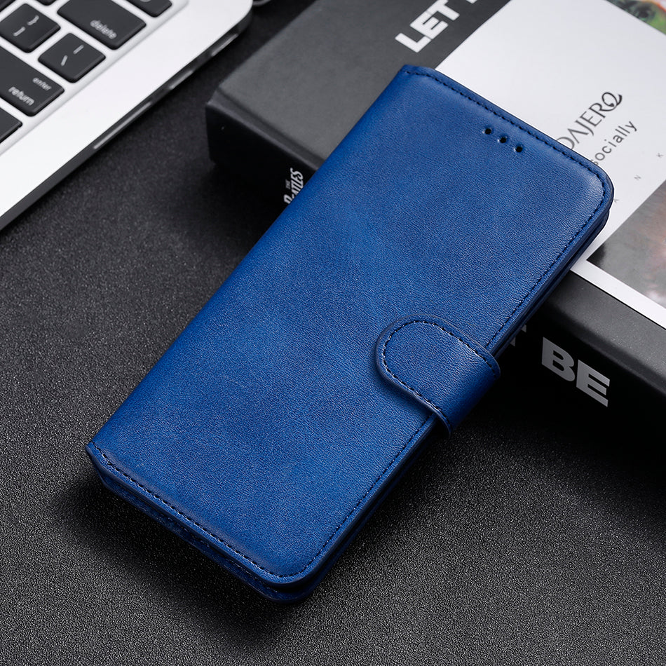 Simple Leather Flip Wallet Case for iPhone 13 Pro Max