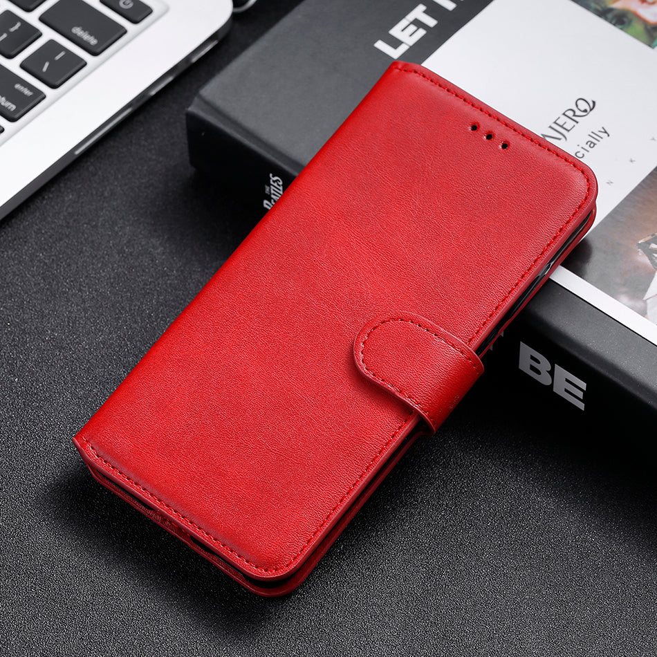 Simple Leather Flip Wallet Case for iPhone 13 Pro