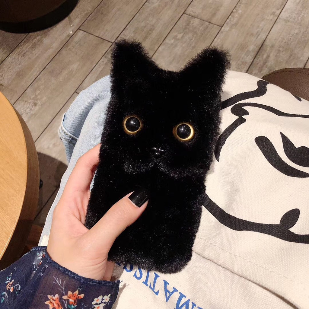 Fluffy Cat Face Case for iPhone 13 Pro