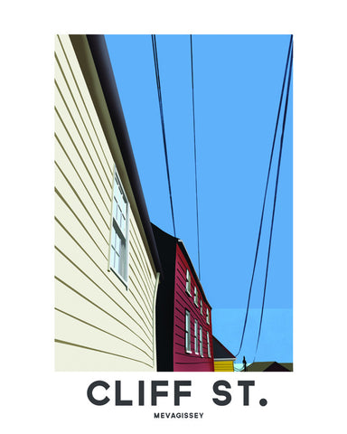 'Mevagissey, Cliff St' by Jetty Street Press