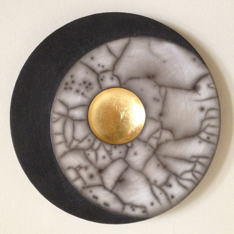 Large Circle by Emma Johnstone - Black/Grey