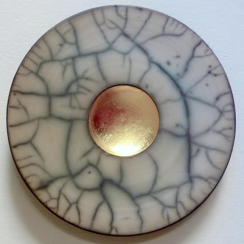 Large Circle - Beige/ Grey, Yellow Gold