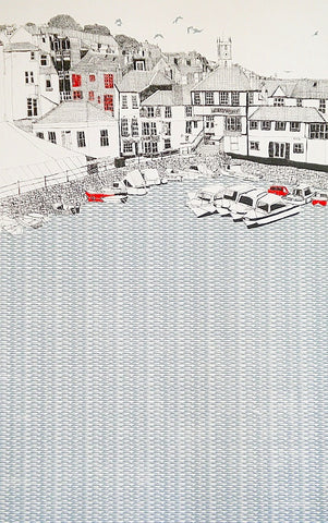 'Falmouth Quay with Chainlocker' by Clare Halifax