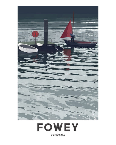 'Fowey Wharf' by Jetty Street Press