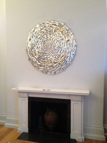 Curved Shoal Circle by James Eddy 120cm