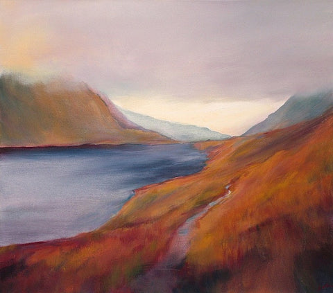 'Low Mists, Grisedale Tarn' (print on canvas) by Jen Larkin