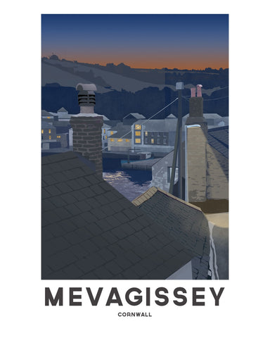 'Mevagissey Night' by Jetty Street Press