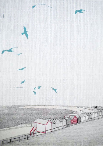 'Whitstable Beach Huts' by Clare Halifax