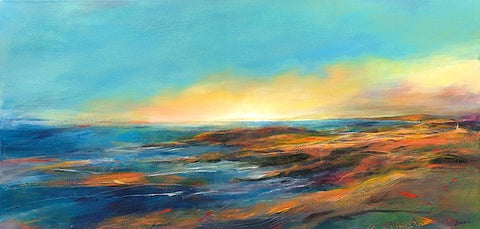 'Across the Headland' (print on canvas) by Jen Larkin