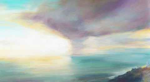 'Approaching Storm, Pendeen Watch' (print on canvas) by Jen Larkin