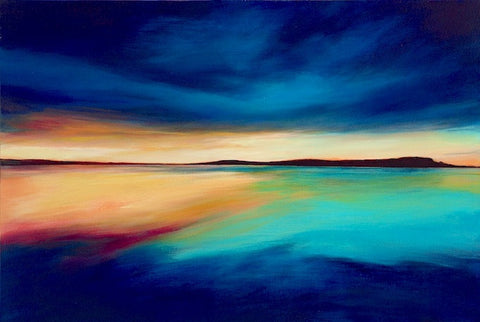 'Camel Estuary Light' (print on canvas) by Jen Larkin