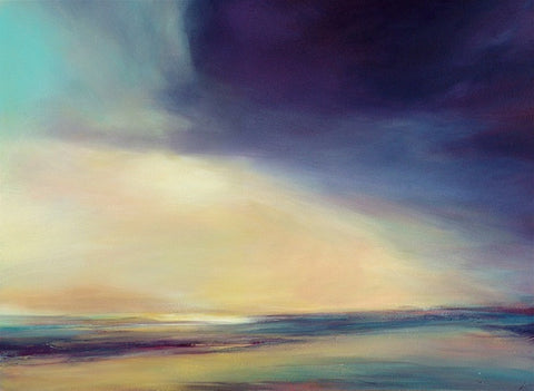 'Chasing Clouds, Polzeath' (print on canvas) by Jen Larkin