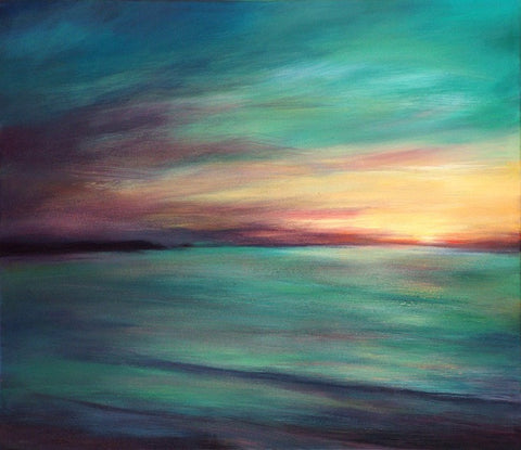 'Fistral Light' (print on canvas) by Jen Larkin