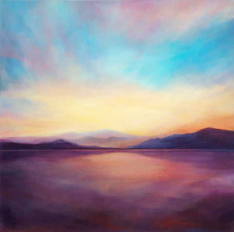'Light, Lost & Found' (print on canvas) by Jen Larkin