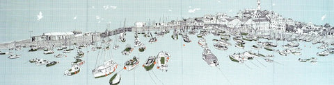 'Penzance Harbour Panorama' by Clare Halifax