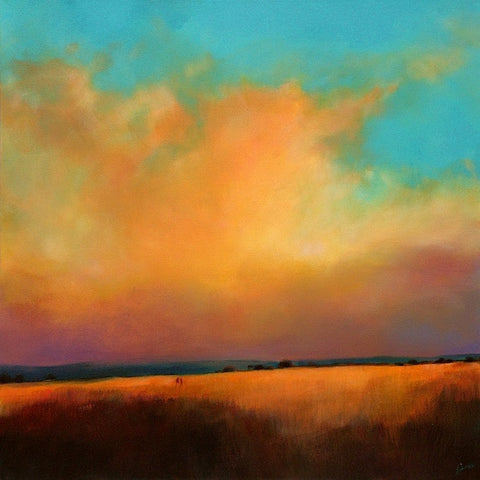 'Where Land Meets Sky' (print on canvas) by Jen Larkin