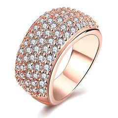 Star Night Rose Gold Plated Ring
