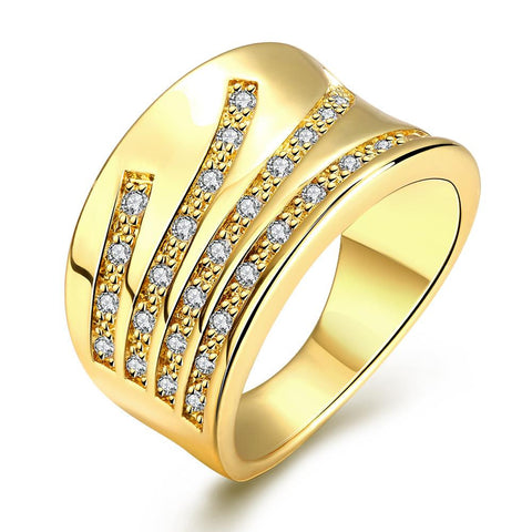 Elegant Curve Gold Plated Ring