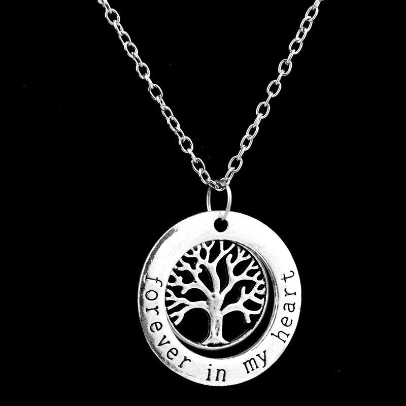 Family Tree Circle Necklace