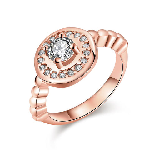 In The Circle Rose Gold Plated Ring