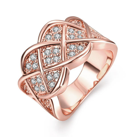 Lattice Rose Gold Plated Ring