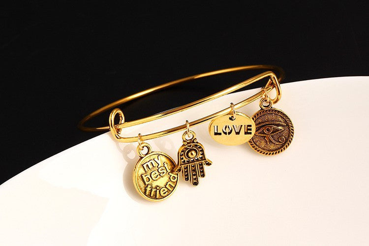 Symbol of Friendship Charm Bracelet