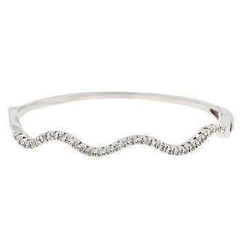 Delicate Cubic Zirconia Breeze Bangle