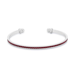 Channel-Set Garnet Cubic Zirconia Cuff