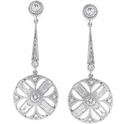 Cubic Zirconia Zodiac Earrings