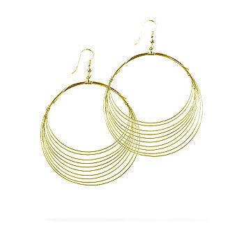 Golden Crest Hoop Earrings