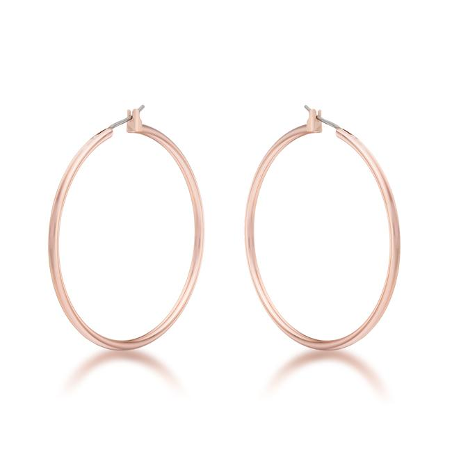 45mm Rose Gold Plated Hoop Earrings