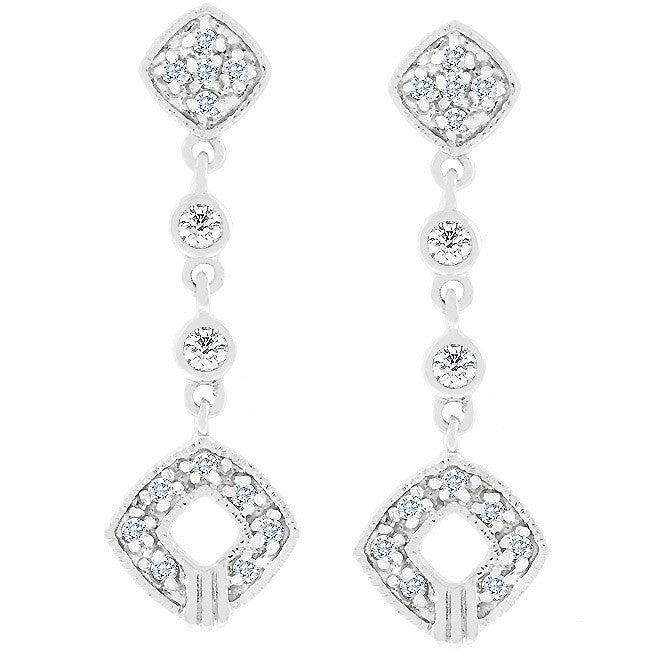 Elegant Clear Cubic Zirconia Drop Earrings