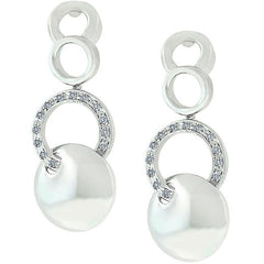 Silver Stronghold Circle Earrings