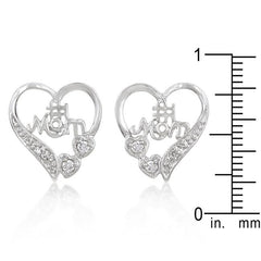 #1 Mom Heart Earrings