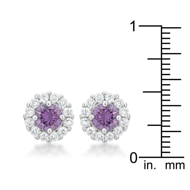 Bella Bridal Earrings in Purple