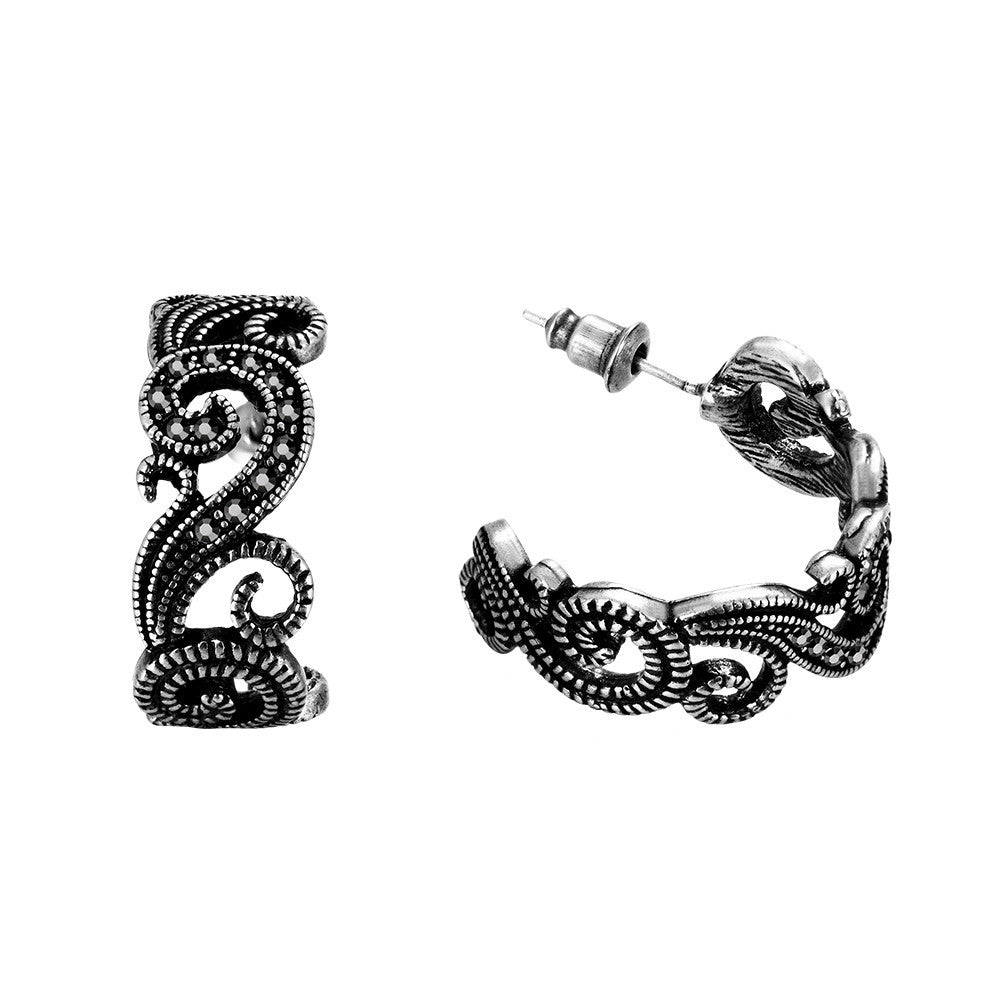Climbing Vine Cuff Earrings