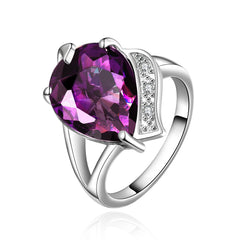 Favorite Purple Zirconnia White Gold Plated Ring
